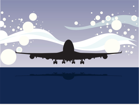 Red Eye Flight Airplane Clipart.