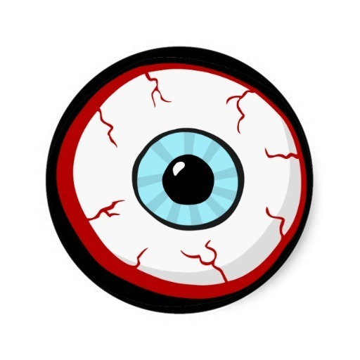 Irritated Eyes Clipart.