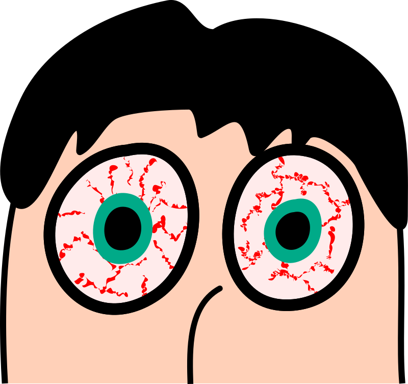 Bloodshot Eyes Clipart.