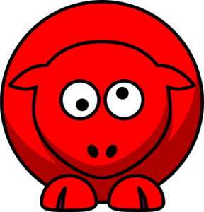 Person with crossed eyes clipart.