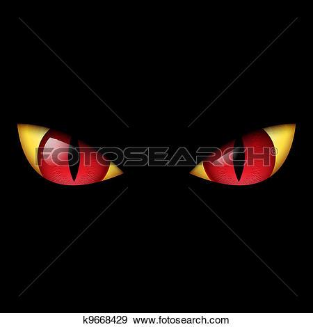 Clip Art of Evil eyes k2209719.