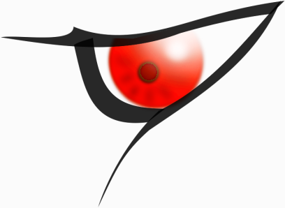 Red evil eyes clipart png.