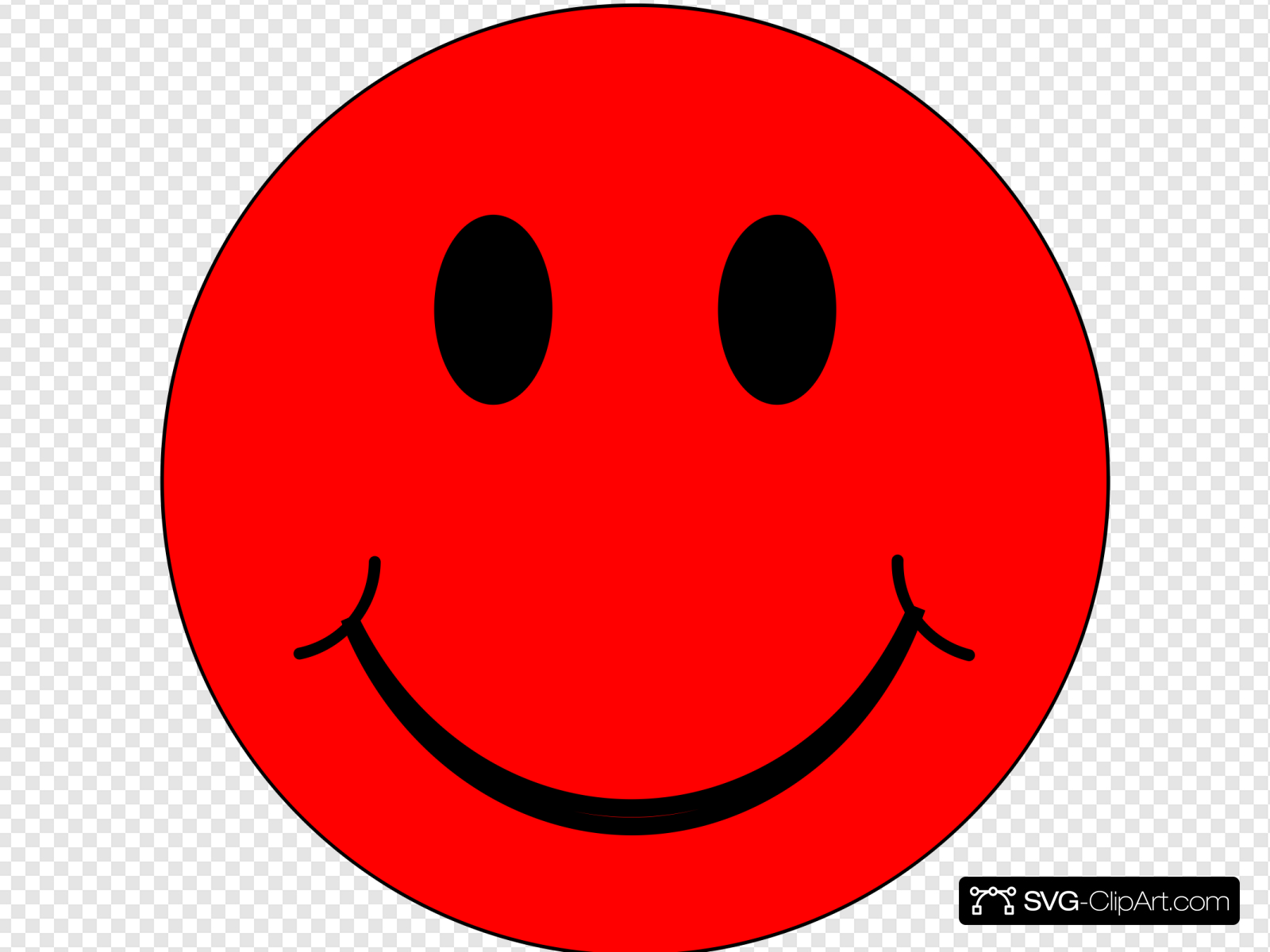 Happy Red Face Clip art, Icon and SVG.