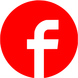 Red facebook 7 icon.