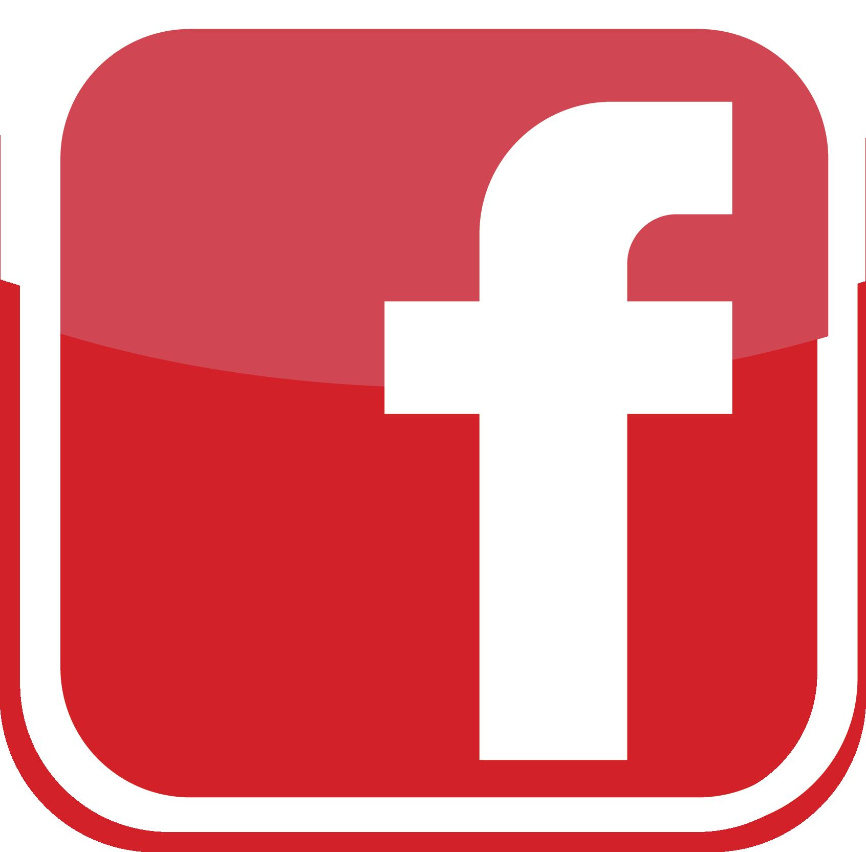 Red facebook Logos.