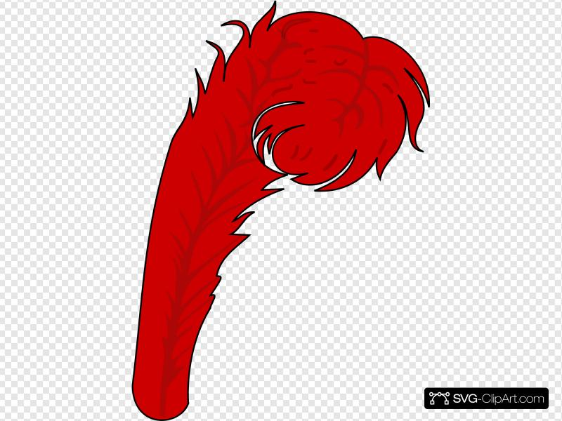 Red Feather 1 Clip art, Icon and SVG.