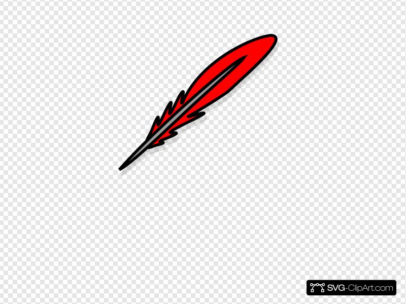 Red Feather 2 Clip art, Icon and SVG.