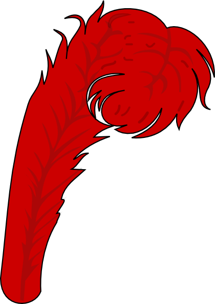 Red Feather 1 Clip Art at Clker.com.