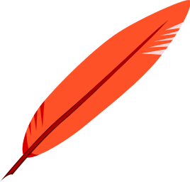 Red Feather Clipart.