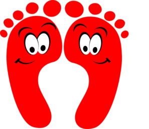 Red Happy Feet Clip Art at Clker.com.