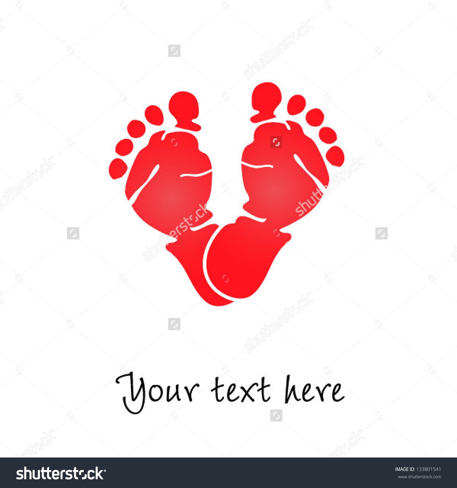 Love baby feet clipart.