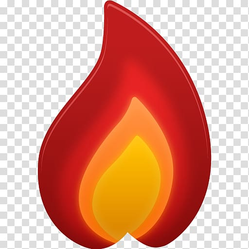 Red fire emoji, orange font, Hot transparent background PNG.