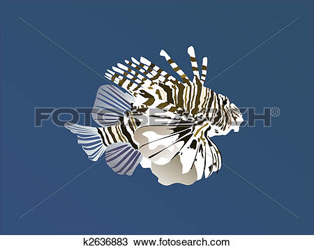 Clipart of fire fish k2636883.