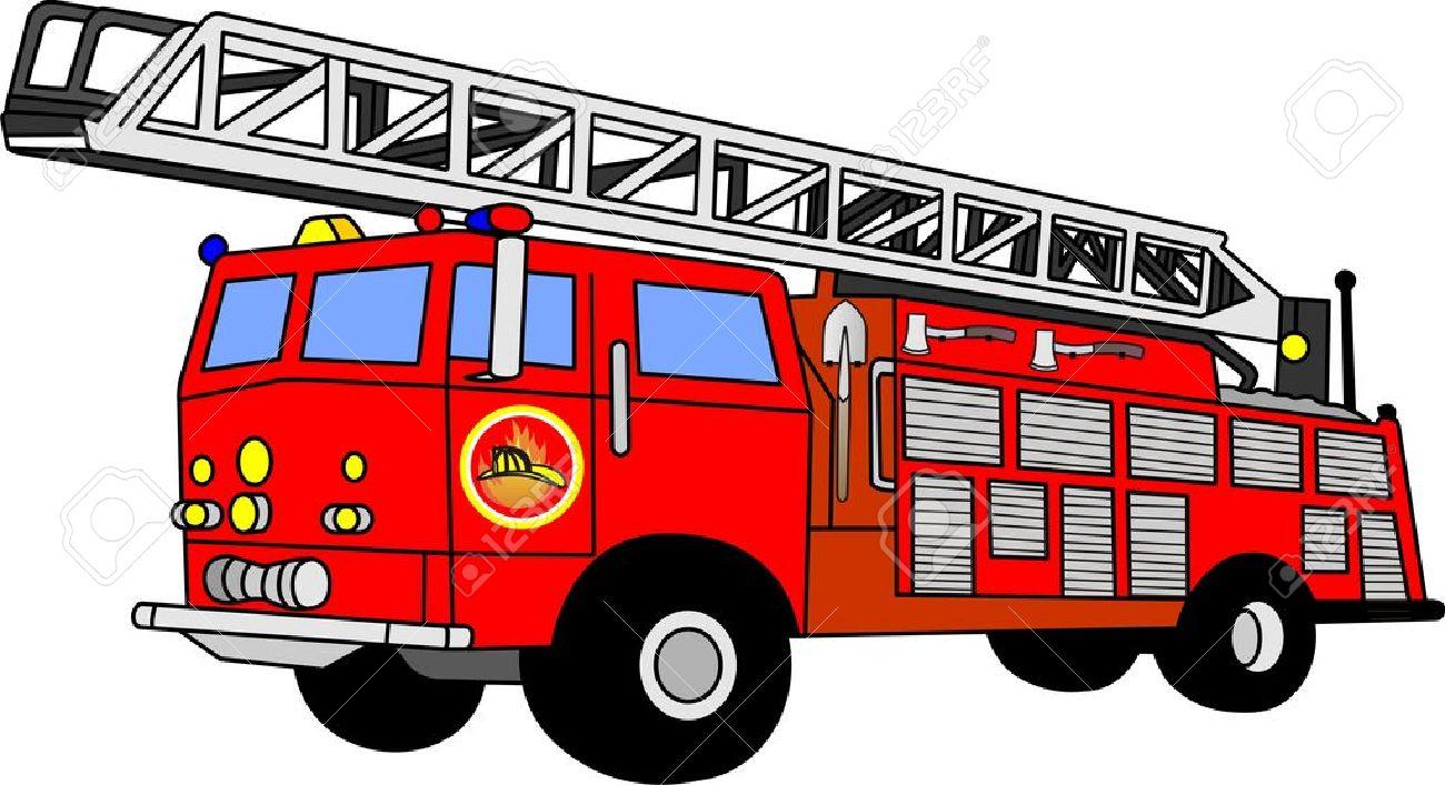354 Firetruck free clipart.