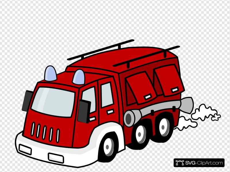 Red Firetruck Clip art, Icon and SVG.