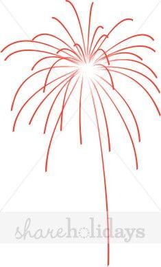 Bursting Red Firework Clipart.