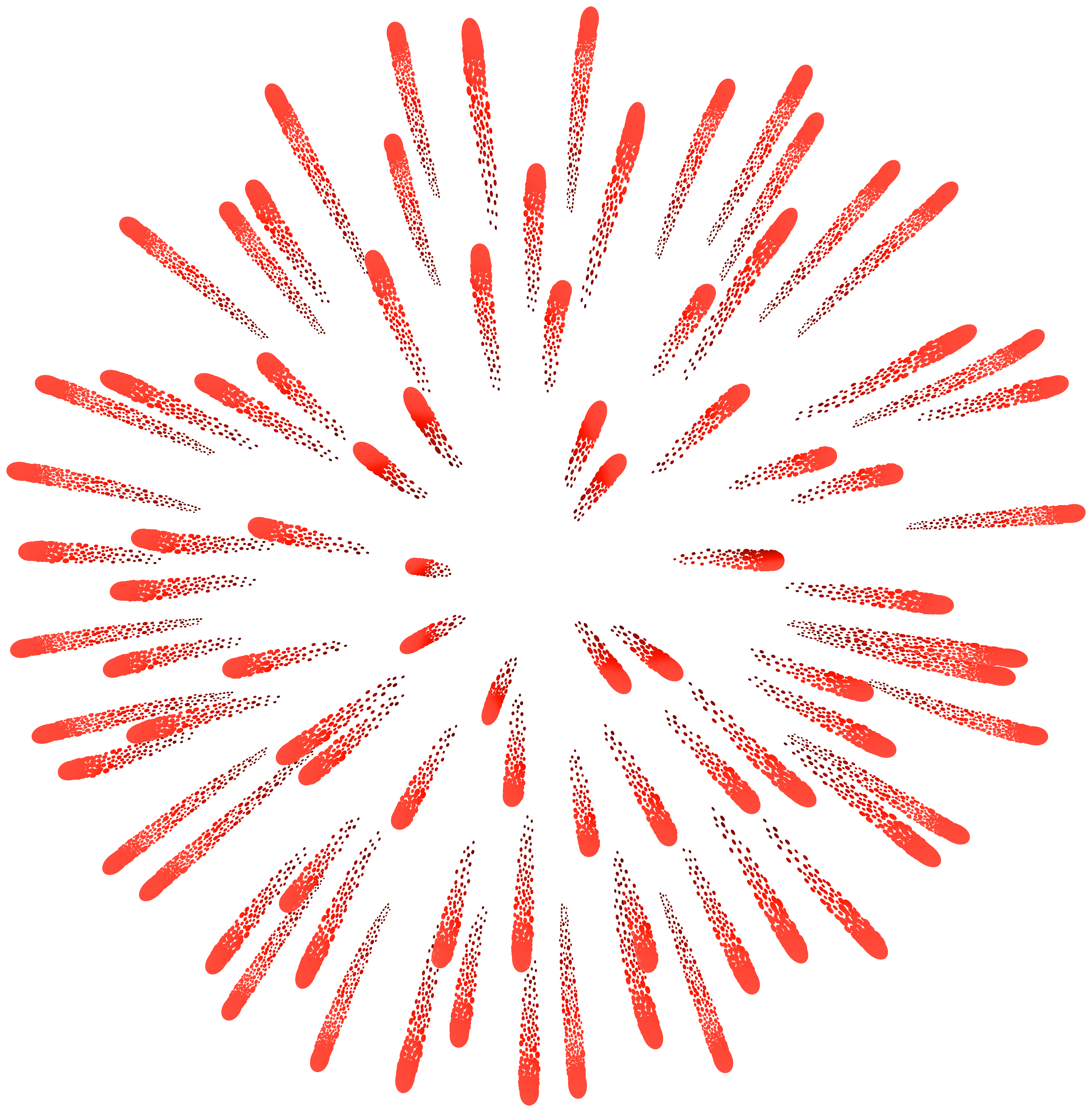 Firework Red PNG Clip Art Image.