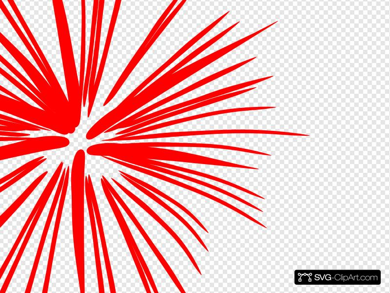 Large Red Fireworks Clip art, Icon and SVG.
