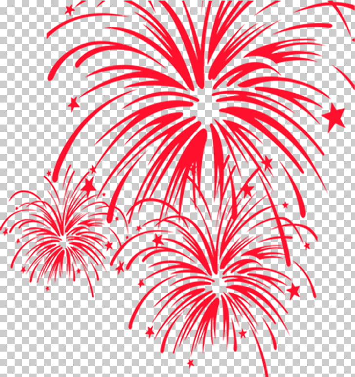 Fireworks Chinese New Year , Creative red fireworks PNG.