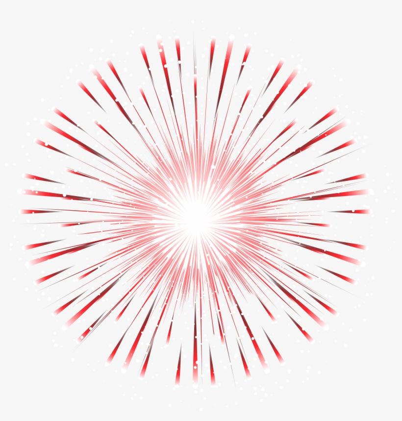 Red Firework Transparent Png Clip Art Image.