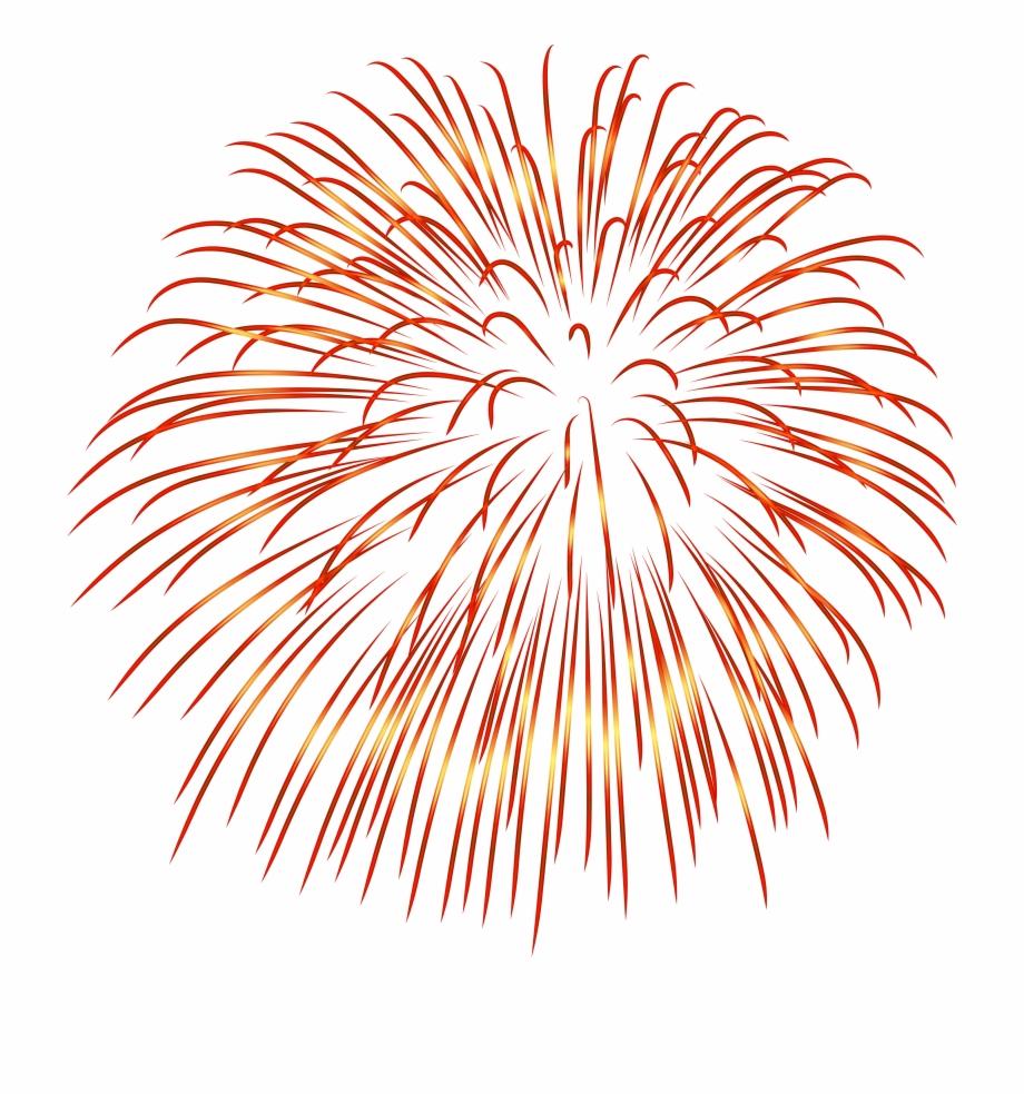 Firework Red Transparent Png Image.