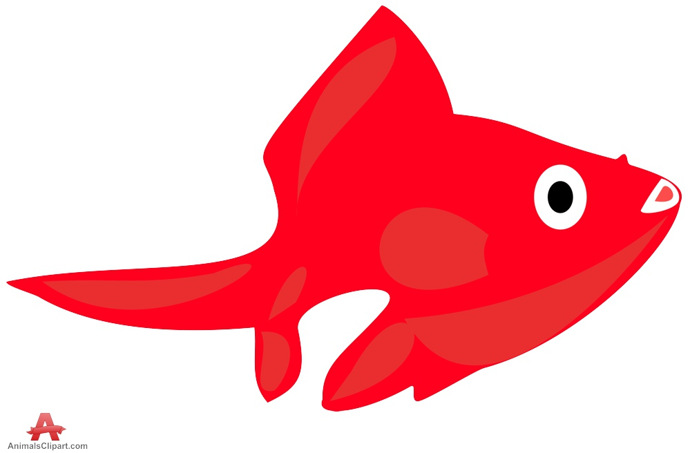 Red fish clip art.