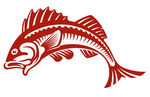 Red fish Logos.
