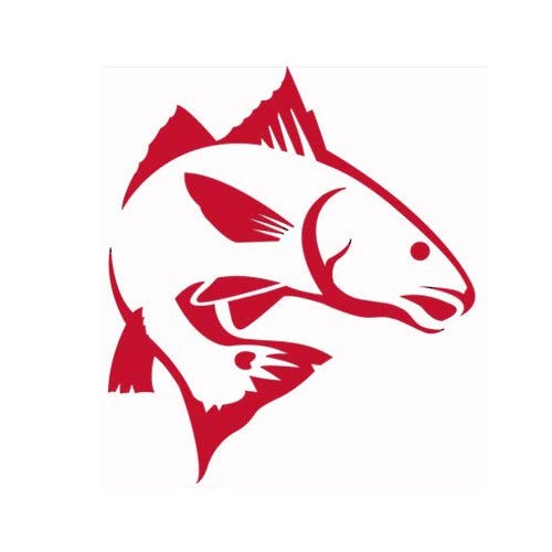 Amazon.com: Red Fish Sticker Decal (red): Automotive.