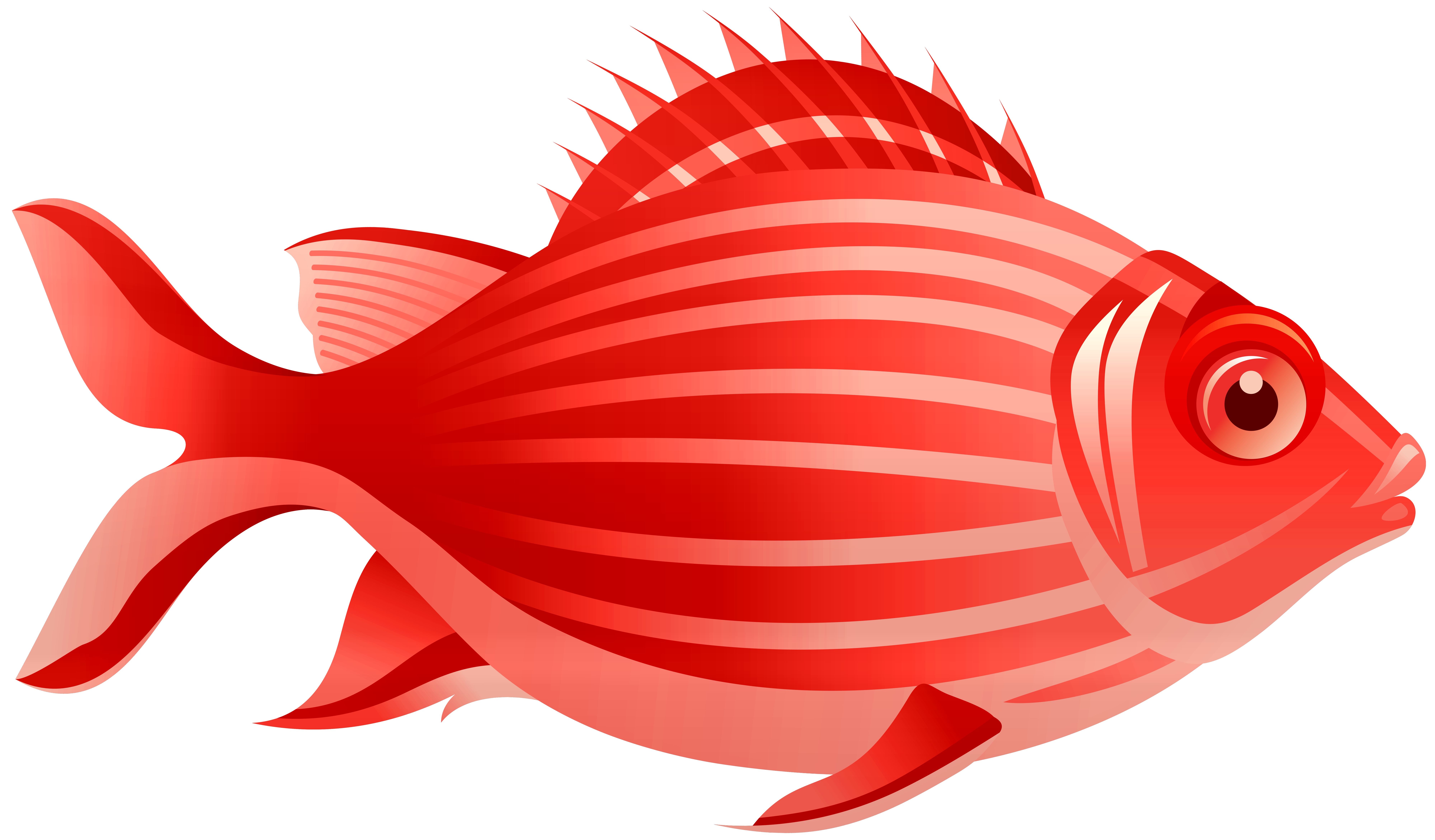 Red Fish PNG Clip Art.