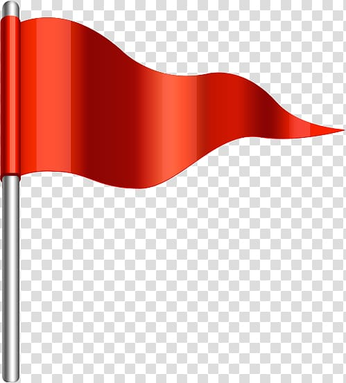 Red pennant flag , Red flag , Small red flag transparent.