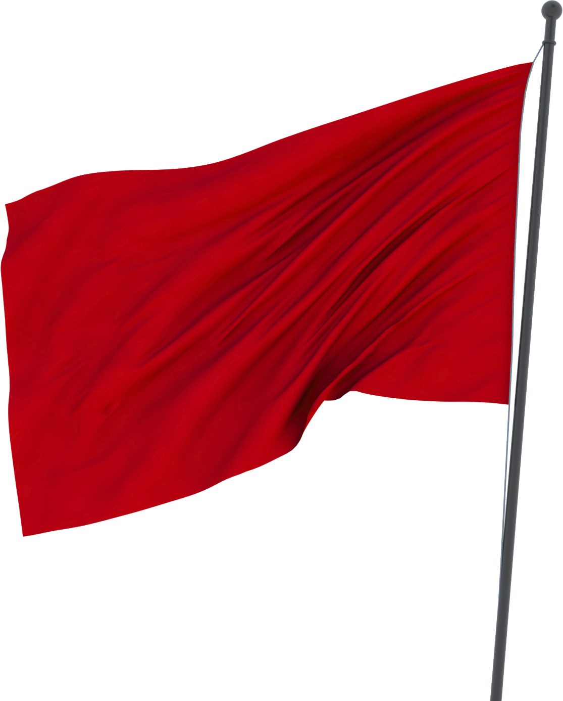Red flag PNG.