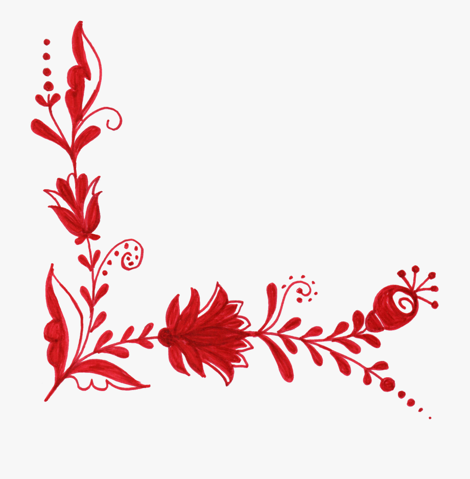 Red Flowers Png.