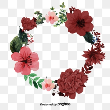 Red Flowers PNG Images.