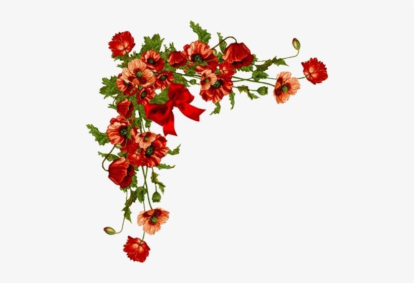 Vintage Floral Corner Png Clip Free.