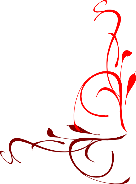 Corner Flourish Red Clip Art at Clker.com.