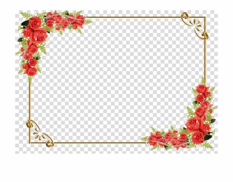 Flower Border Png Transparent Background.