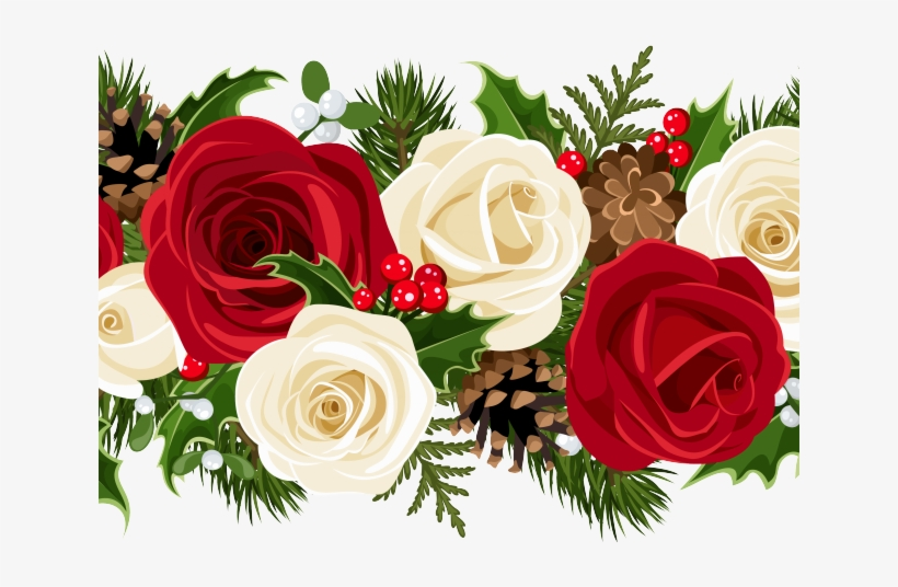 Flowers Borders Clipart Flower Garland.