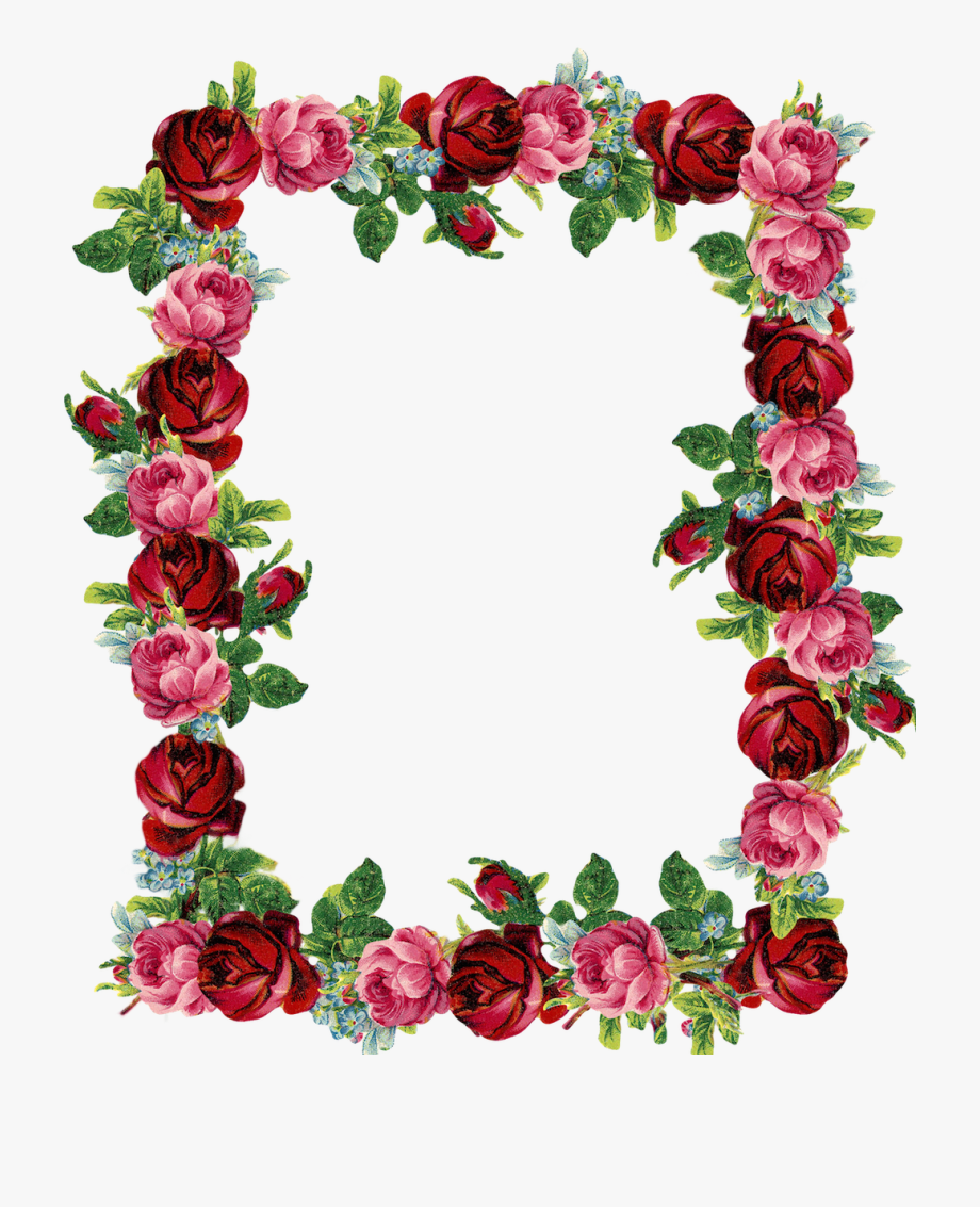 Flowers Borders Clipart Red.