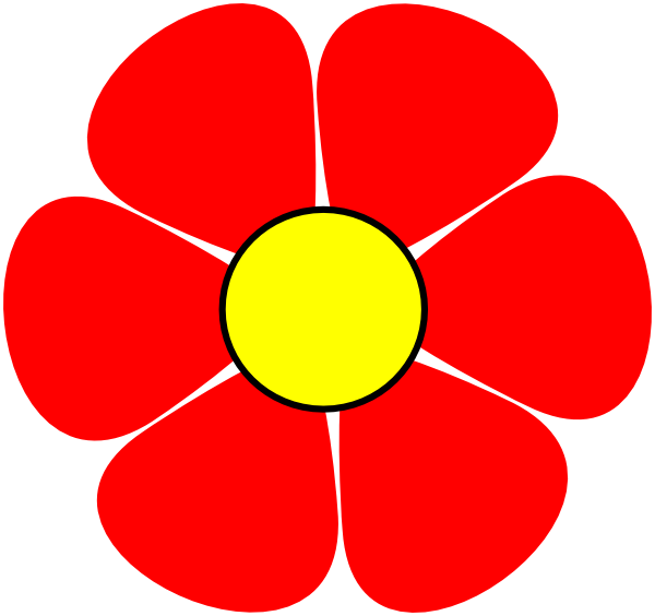 Flower clipart red.