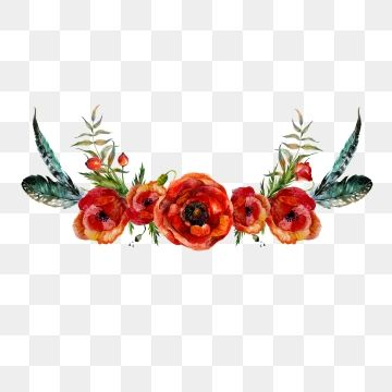 Red Flower, Red Flower Crown, Red Crown PNG Transparent.