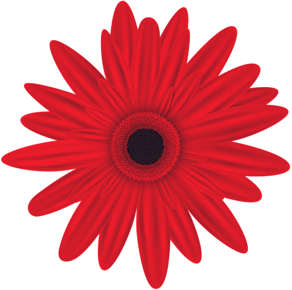 Red Flower Clip Art Image in 2019.