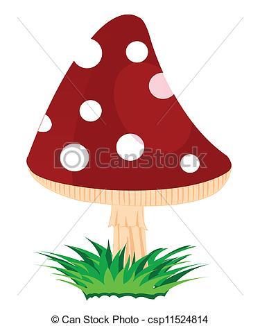 Vector Clip Art of Mushroom fly agaric.