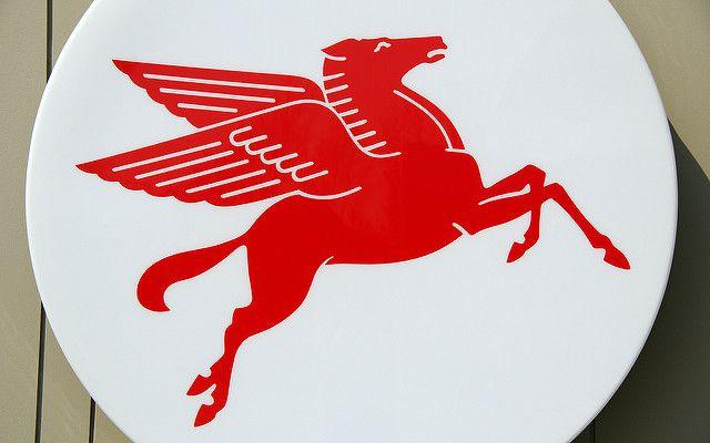 Flying Horse Gasoline Logo.