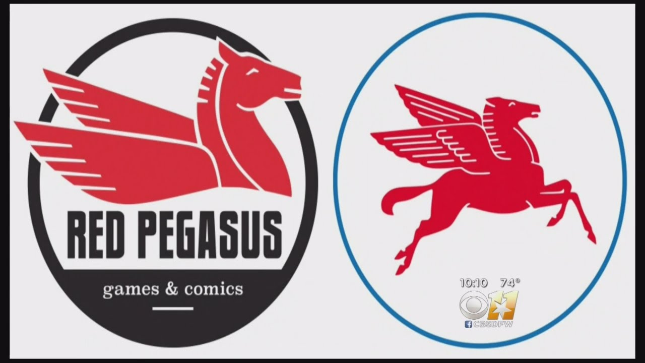 Exxon Challenges Oak Cliff Comic Store Over Red Pegasus Logo.