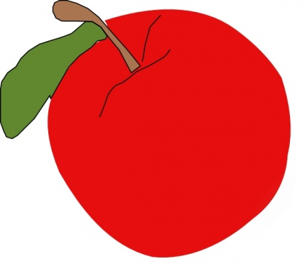 Red Apple Food Fruit Apples Outline Cartoon Another vector, free.