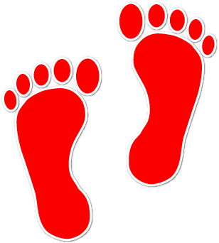 Gallery For > Red Footprint Clipart.