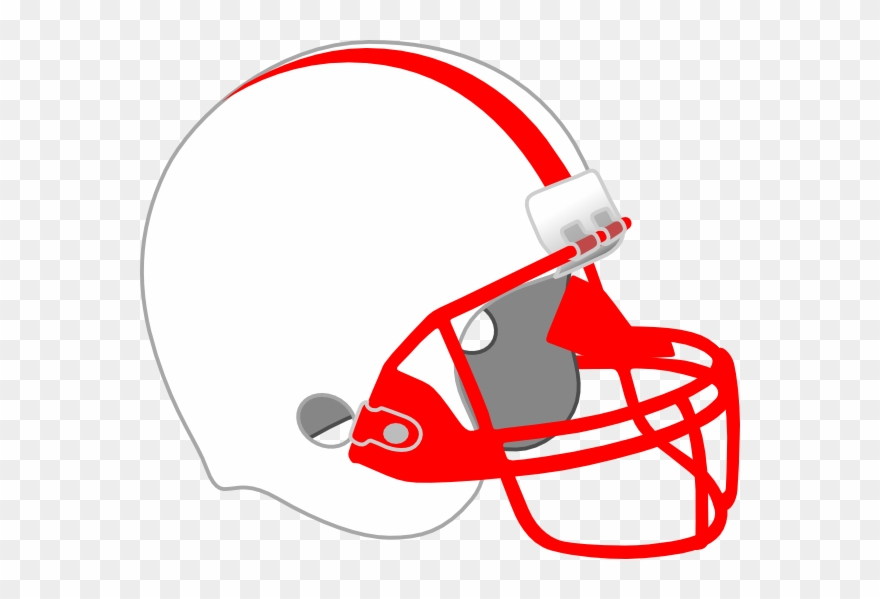 Red And White Football Helmet Clipart (#1988735).