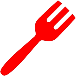 Free red fork icon.