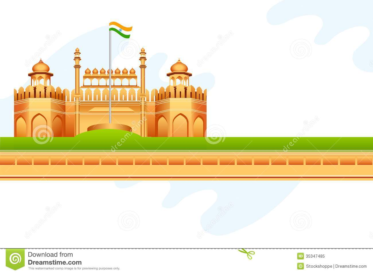 Red fort clip art.