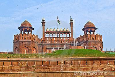 White Dome At Red Fort Stock Photo.
